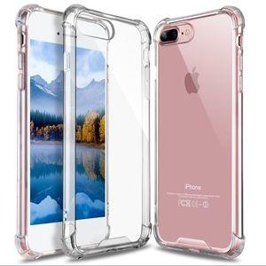 For Apple iPhone 8Plus Clear TPU Bumper Case